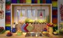Солнечная средиземноморская кухня на веранде загородного дома
