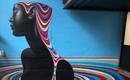 Монохромные фрески с красочными срезами от Gina Kiel