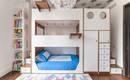 Три в одном: двухъярусная кровать с хранением и лестницами