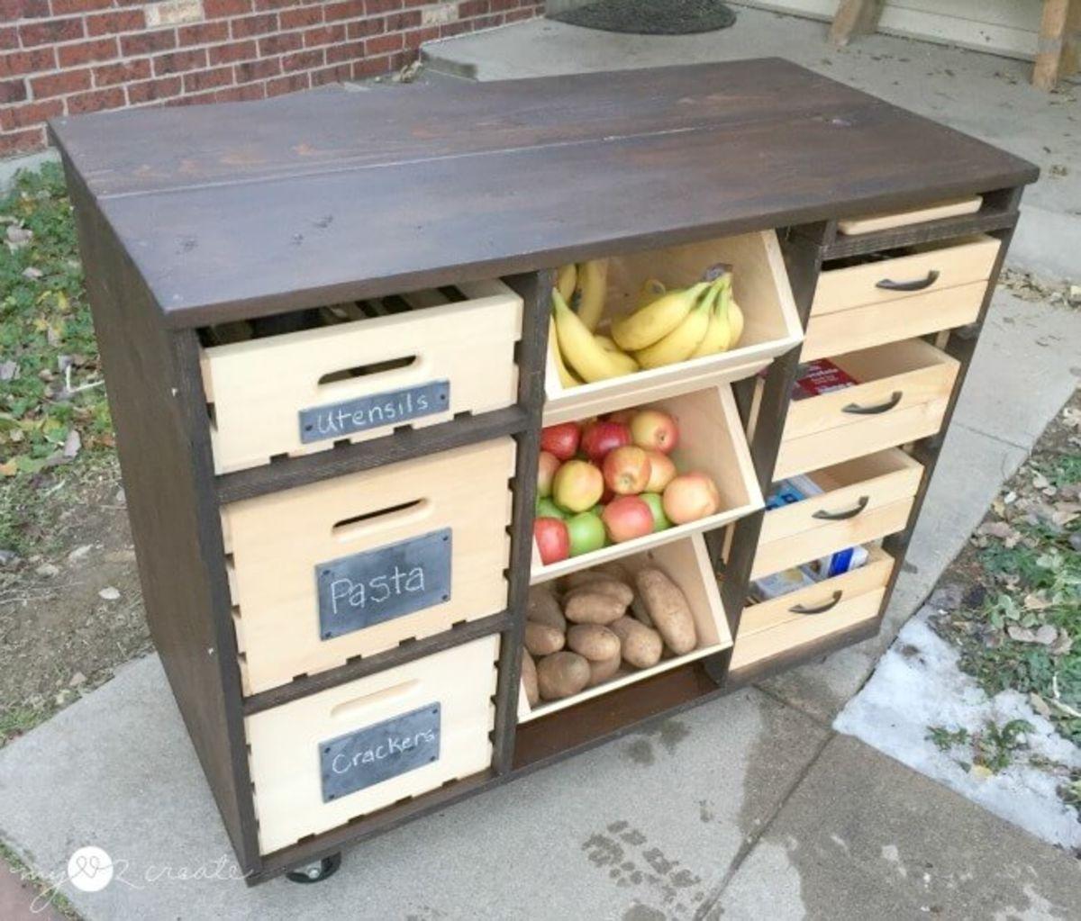5 простых идей хранения фруктов и овощей на кухне