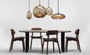 Лампа из четырех подвесных светильников для обеденного стола
