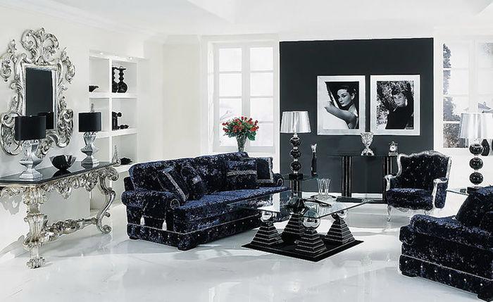 Черно-белый интерьер. Источник фото: https://www.pinterest.co.uk/