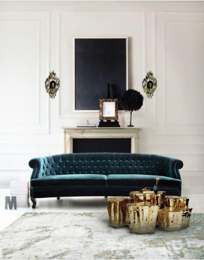 Бархатный диван с кофейными с толиками. Источник фото: http://jobimgs.pw/coffee-table-trends-2019.html