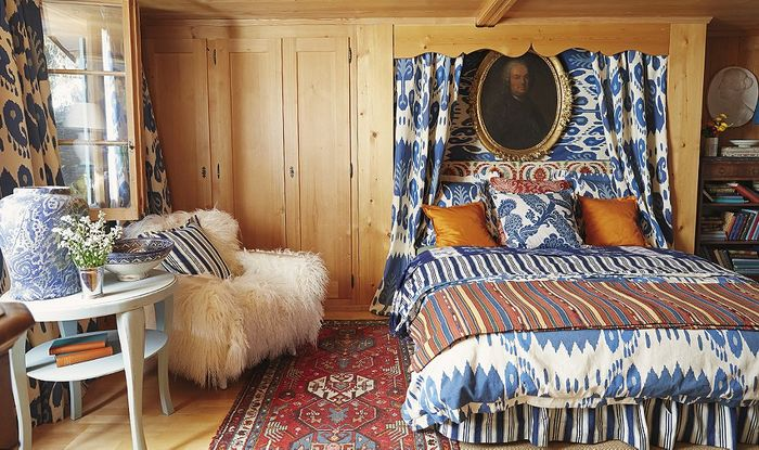 Дизайнер Мишель Нуссбаумер дома в Далласе, где она и ее швейцарский муж прожили почти два десятилетия.