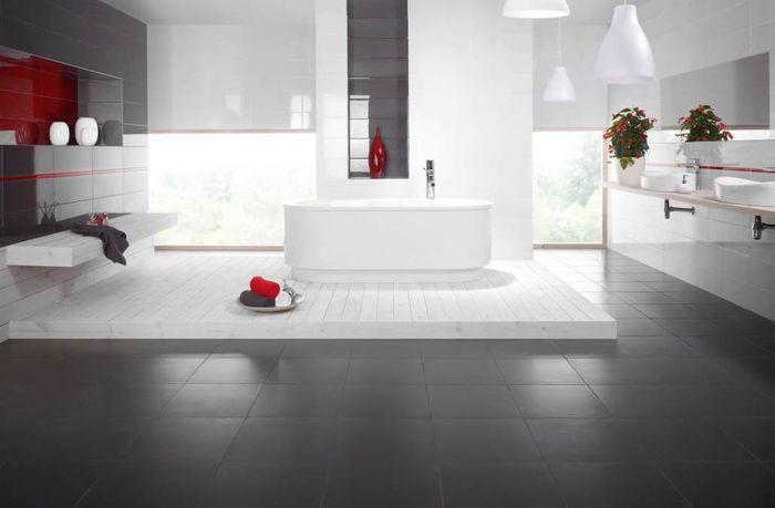 Минимализм и контраст в ванной. Коллекция плитки Yoshioka-Purio. Керамика Paradiz