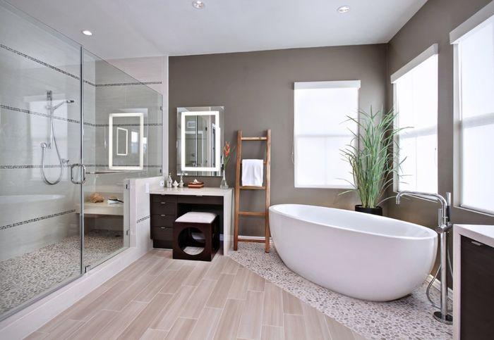 Нейтральная композиция в ванной. Источник фото: I Custom Designs