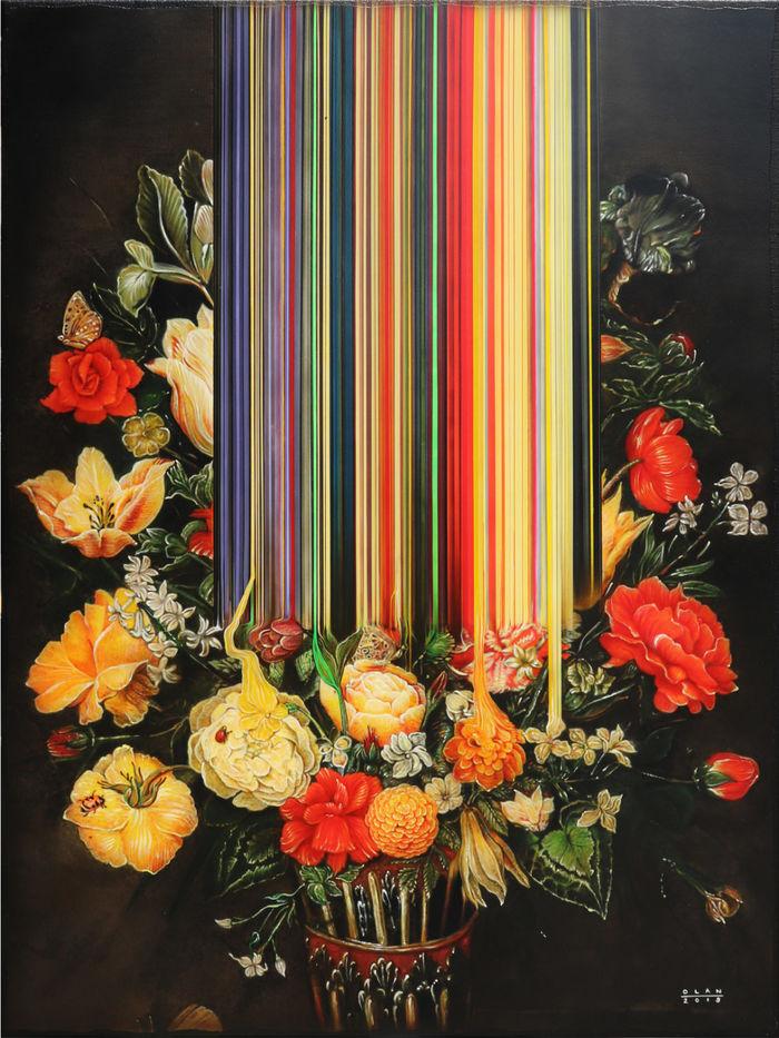 «Натюрморт с цветами» (2019), холст, акрил, 101,6 х 76,2 см