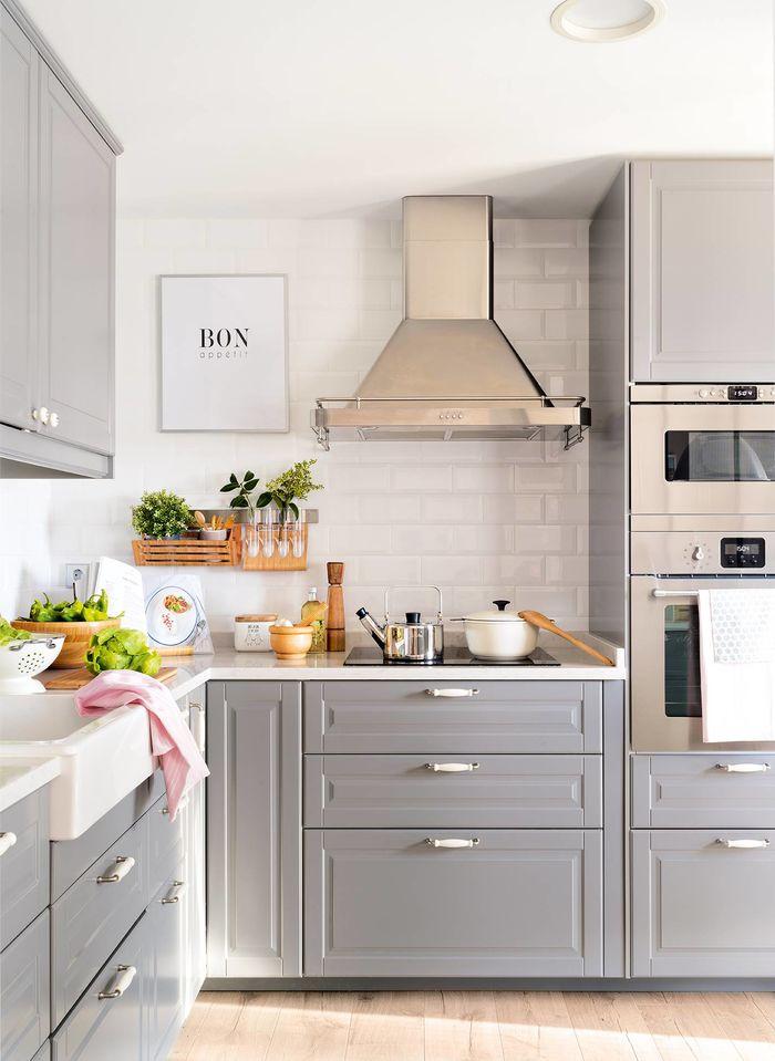Кухня 8 кв. М. Фото: https://www.elmueble.com