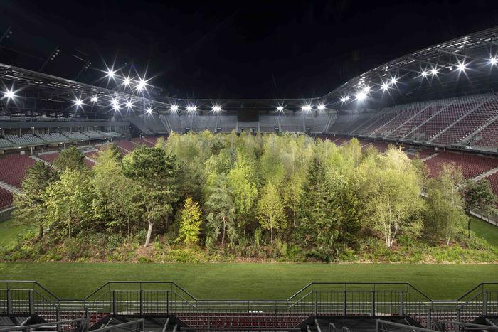 Лес на стадионе Wörthersee. Дизайнер: Gerhard Maurer. Фото: Gerhard Maurer