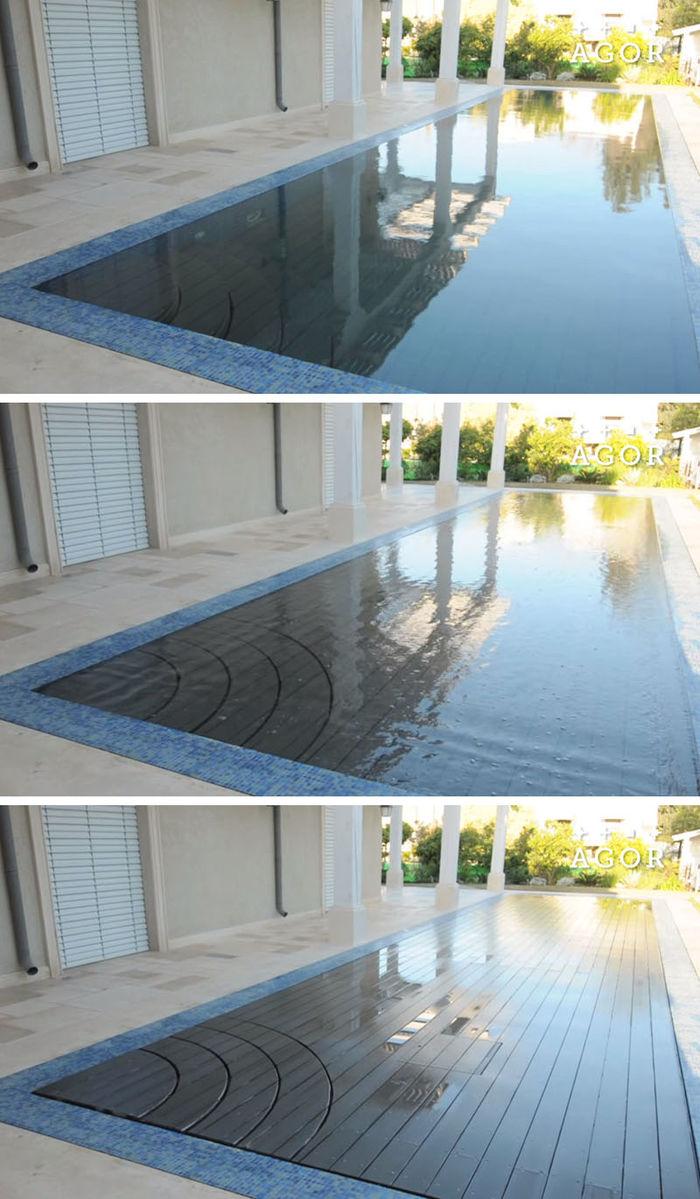 Исчезающий бассейн. Подвижные полы от компании AGOR