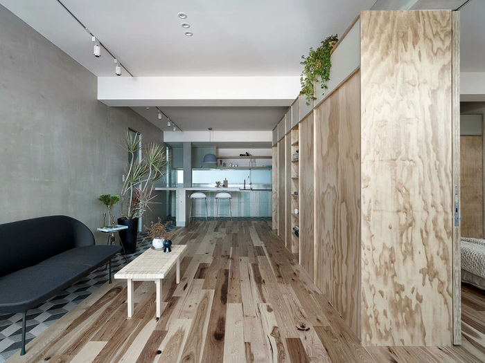 Квартира Ji Apartment. Дизайн KC Design Studio. Фото Sam Siew Shien