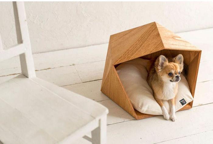 Геометрические кровати для животных из серии PETE HOUSE Natural Slow. Источник фото: www.natural-slow.com