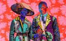 Что можно делать из кусков ткани? Стеганые портреты африканцев!