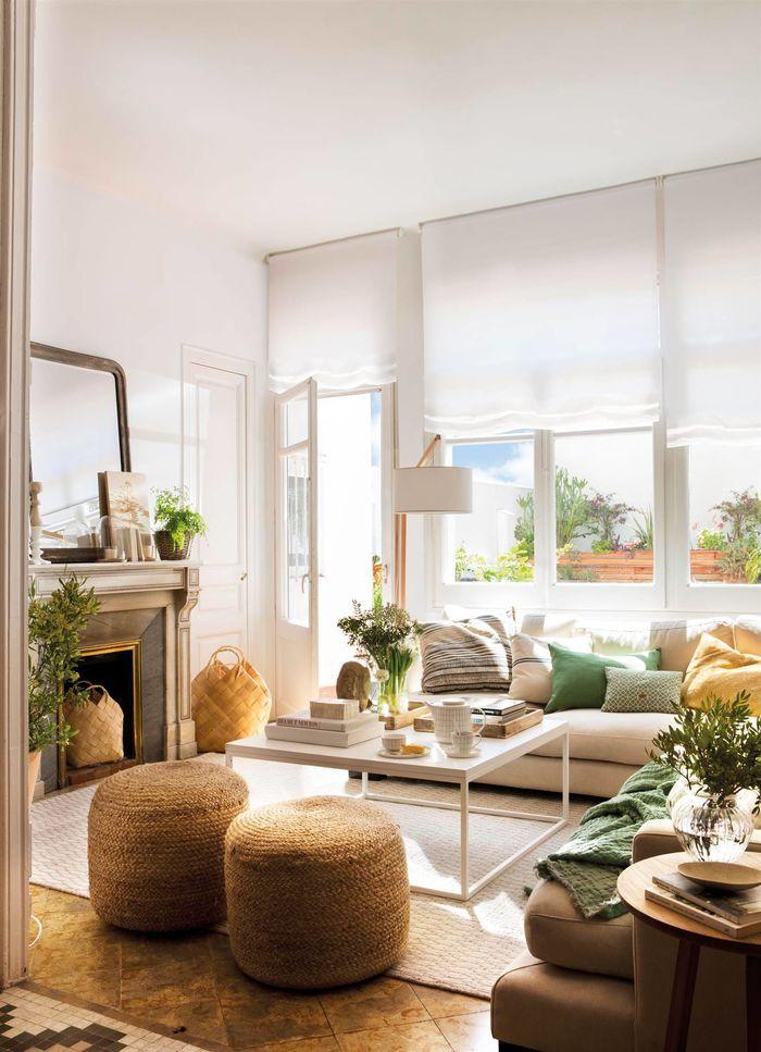 Квадратная гостиная. Источник фото: www.elmueble.com