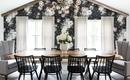 Цветочные обои в интерьере столовой: 9 прекрасных примеров