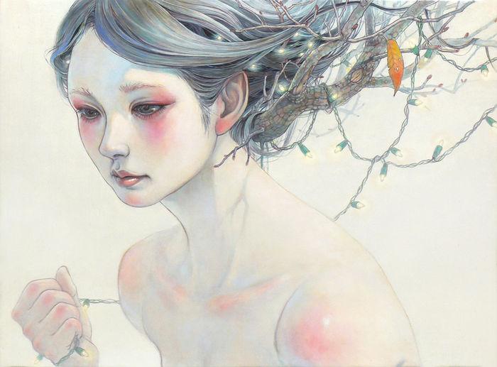 Масло, холст. Художница Miho Hirano