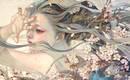 Изысканные линии и эфирные оттенки на картинах Михо Хирано