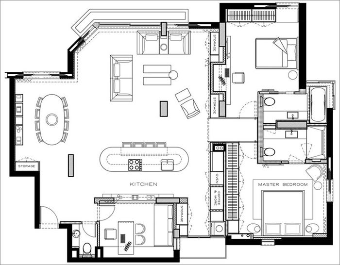 Дизайн: Aviram – Kushmirski Interior Deisgn. Фото: Oded Smadar