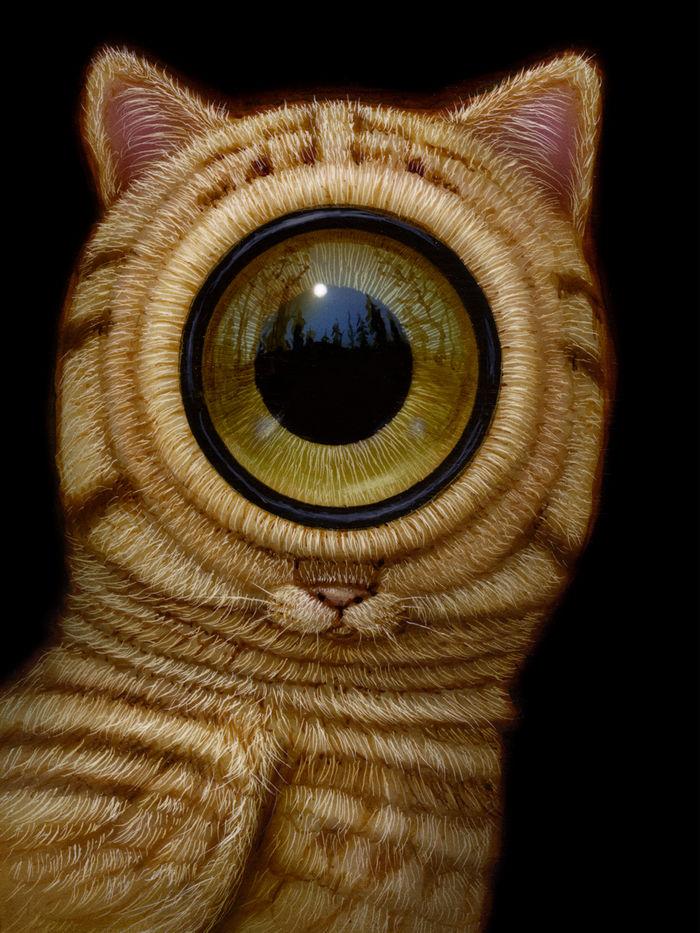 Гибридные существа художника Naoto Hattori. Фото автора.