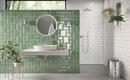 Модные декоры для стен в ванных комнатах