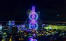Световое шоу на фасаде голливудского отеля удивляет каждую ночь