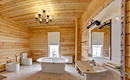 Ванная в деревянном доме: что надо знать при обустройстве