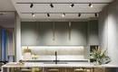 Рельсовое освещение - новая тенденция универсального света для кухни