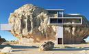 Ошеломляющий проект дома, встроенного в гигантский валун