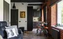 Контрастный комфорт – маленькая и стильная квартира