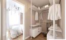 Эффектные идеи для гардероба в маленькой спальне