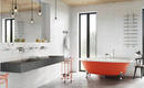 Идеальная ванная комната – элегантная фурнитура и яркий цвет