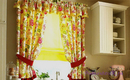 5 элегантных примеров для кухонных штор