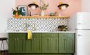 Мечта дизайнера: 6 кухонь розового и зеленого цветов