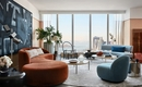 Красивая квартира на 60-м этаже со старым и новым дизайном