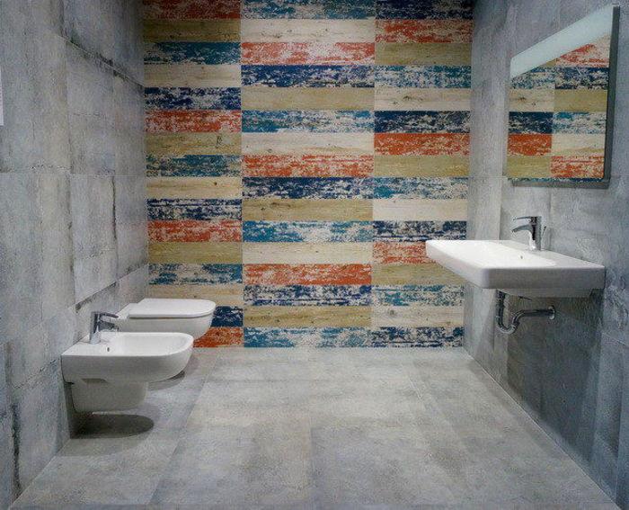 плитка Gres, имитирующая доски с облупленной краской из коллекции Livingstone Shabby Chic Tubądzin