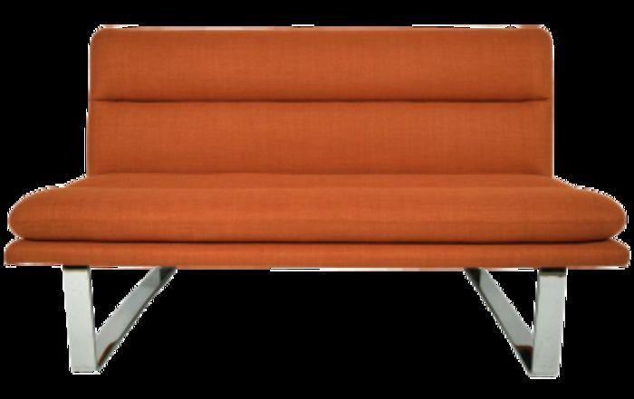 Современный стальной безрукий диван середины прошлого века