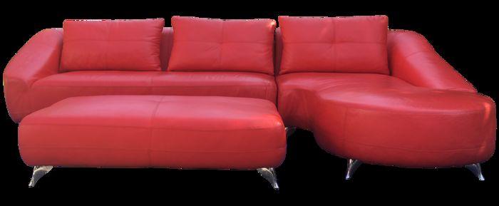Кожаный шезлонг и секционный диван, бренд Roche Bobois