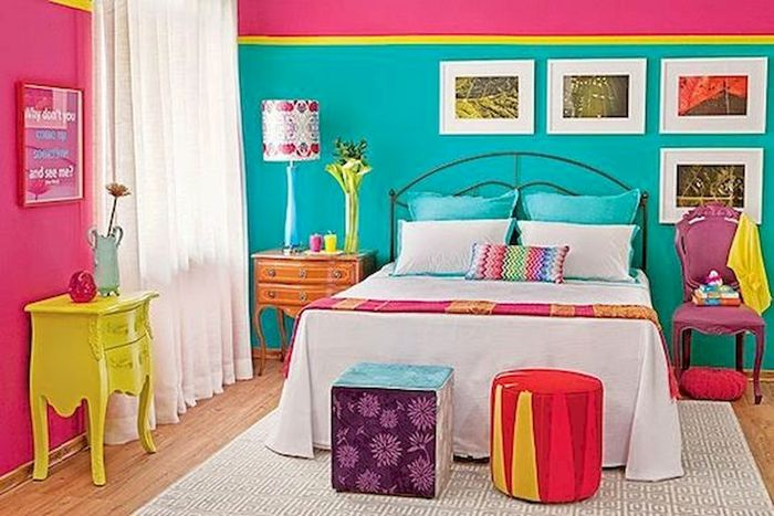 Источник фото: https://house8055.com/70-awesome-colorful-bedroom-design-ideas-and-remodel/