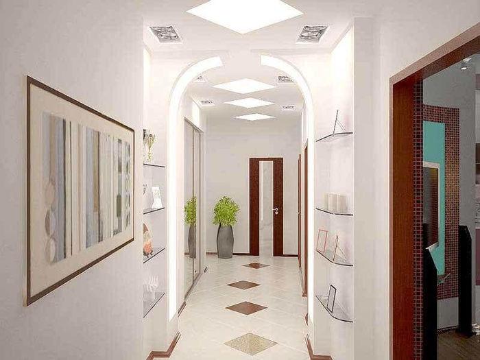Интерьер прихожей, коридора и холла