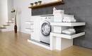 Место стиральной машины в маленькой ванной