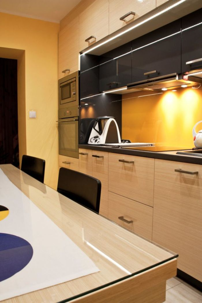 Кухня после перестановки мебели