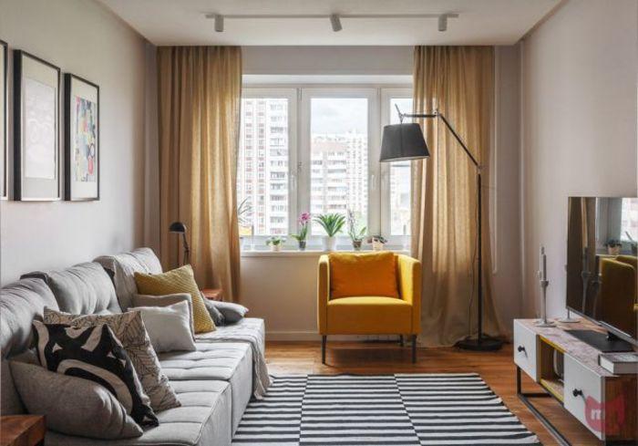 Обустройство маленькой гостиной