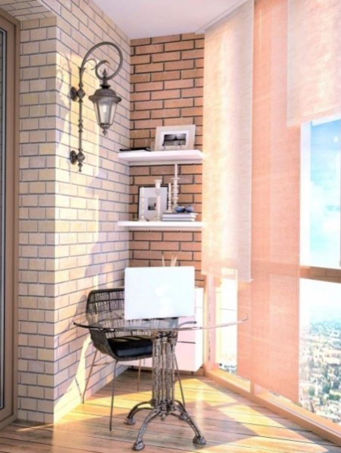Балкон в стиле лофт
