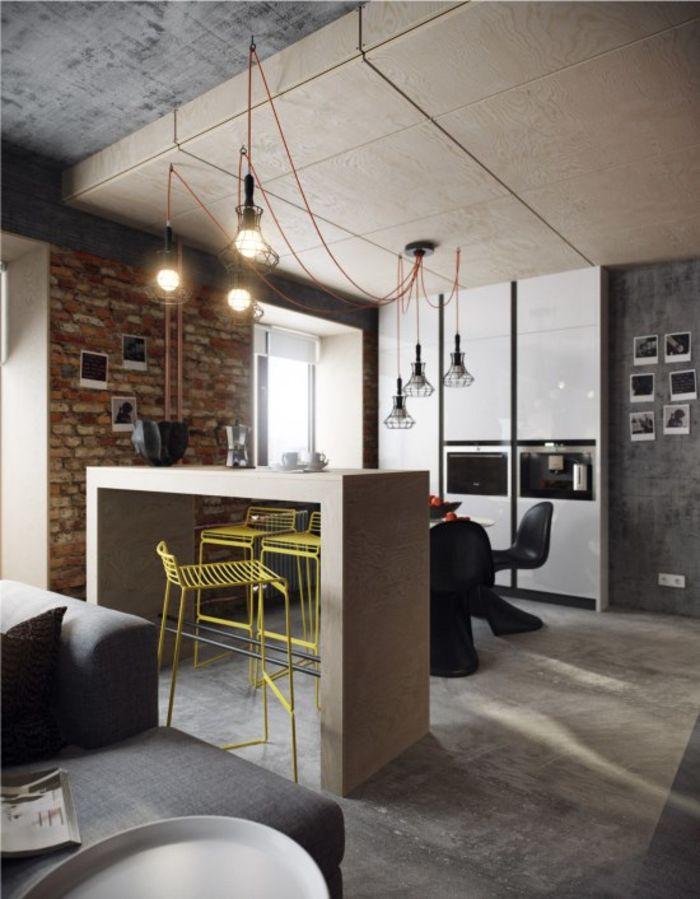 Кухня с монохромным дизайном в стиле минимализма