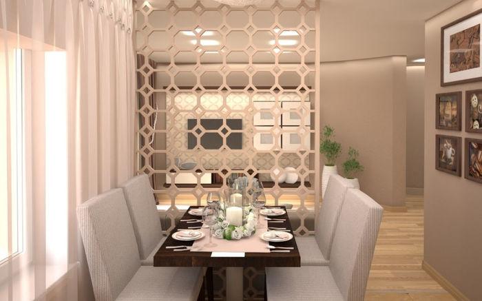 Большая кухня, объединенная с гостиной