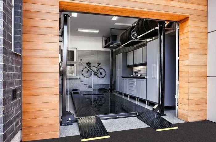Обустройство внутри гаража