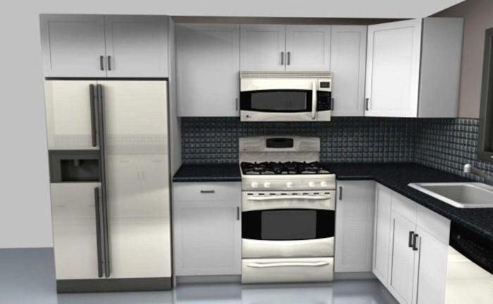 Холодильник рядом с духовым шкафом