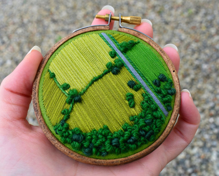 Вышивка ландшафтных пейзажей
