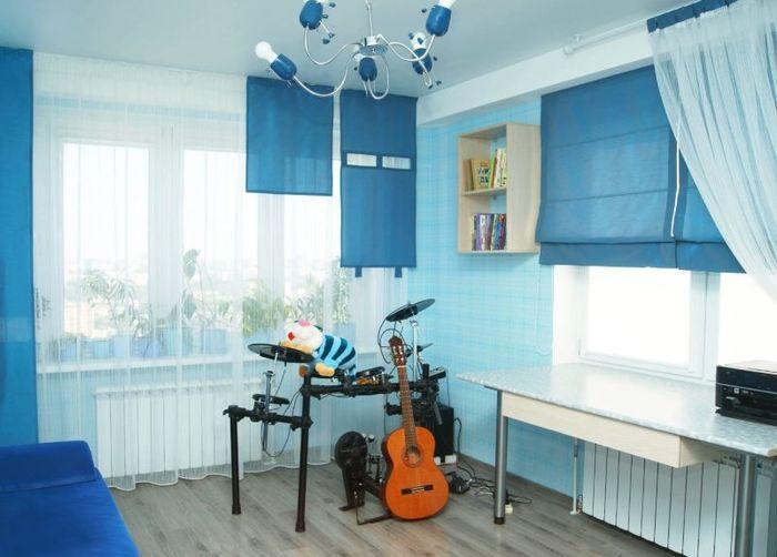 Римские шторы в детской комнате