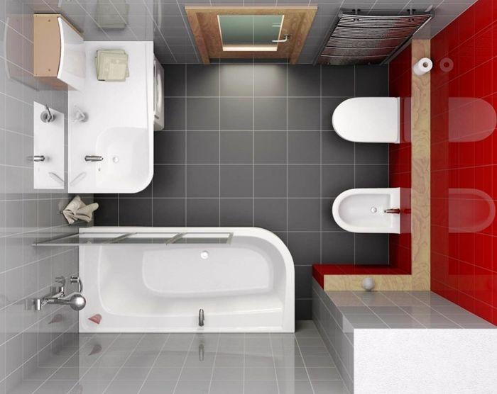 Квадратная ванная комната